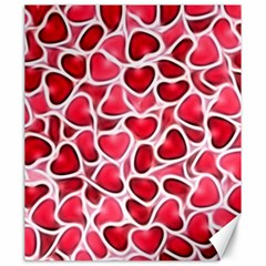 Candy Hearts Canvas 20  X 24  (unframed)