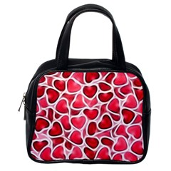 Candy Hearts Classic Handbag (one Side)