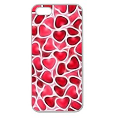 Candy Hearts Apple Seamless Iphone 5 Case (clear)