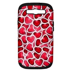 Candy Hearts Samsung Galaxy S Iii Hardshell Case (pc+silicone)
