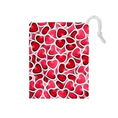 Candy Hearts Drawstring Pouch (medium)