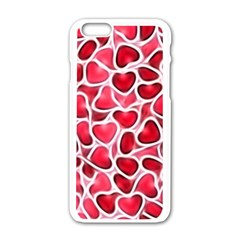 Candy Hearts Apple Iphone 6 White Enamel Case