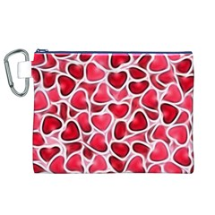 Candy Hearts Canvas Cosmetic Bag (XL)