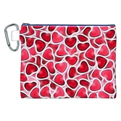 Candy Hearts Canvas Cosmetic Bag (XXL)