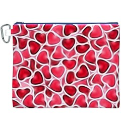Candy Hearts Canvas Cosmetic Bag (XXXL)