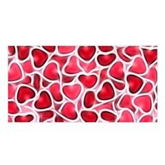 Candy Hearts Satin Shawl