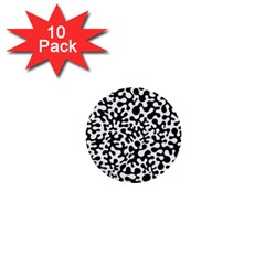 Black And White Blots 1  Mini Button (10 Pack)
