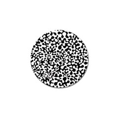 Black And White Blots Golf Ball Marker 4 Pack