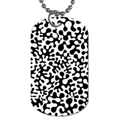 Black And White Blots Dog Tag (two Sided)