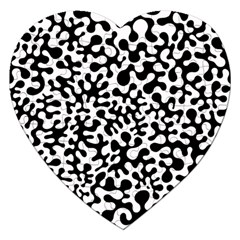 Black And White Blots Jigsaw Puzzle (heart)