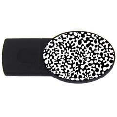 Black And White Blots 4gb Usb Flash Drive (oval)