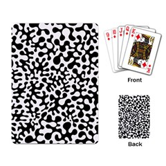 Black And White Blots Playing Cards Single Design