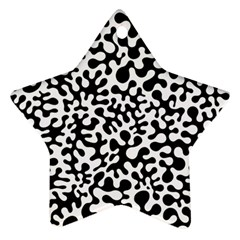 Black And White Blots Star Ornament (two Sides)
