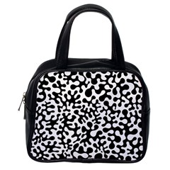 Black And White Blots Classic Handbag (one Side)