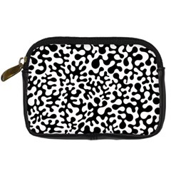 Black And White Blots Digital Camera Leather Case