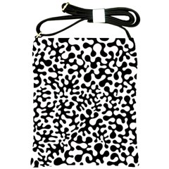 Black And White Blots Shoulder Sling Bag