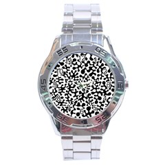 Black And White Blots Stainless Steel Watch