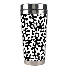 Black And White Blots Stainless Steel Travel Tumbler