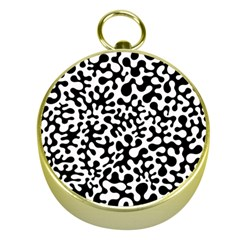 Black And White Blots Gold Compass