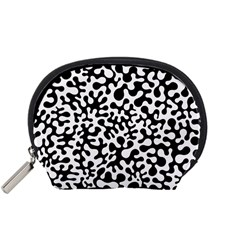 Black And White Blots Accessory Pouch (small)