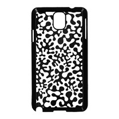 Black and White Blots Samsung Galaxy Note 3 Neo Hardshell Case (Black)