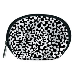 Black And White Blots Accessory Pouch (medium)