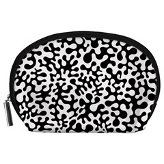 Black and White Blots Accessory Pouch (Large)