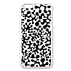 Black and White Blots Apple iPhone 6 Plus Enamel White Case