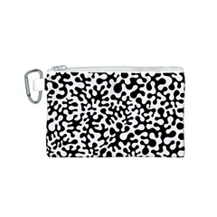 Black and White Blots Canvas Cosmetic Bag (Small)