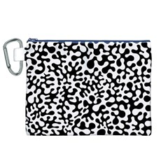 Black And White Blots Canvas Cosmetic Bag (xl)