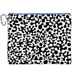 Black and White Blots Canvas Cosmetic Bag (XXXL)