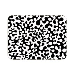 Black and White Blots Double Sided Flano Blanket (Mini)