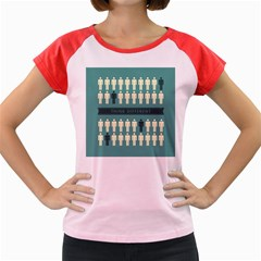 Think Different Women s Cap Sleeve T-Shirt (Colored)