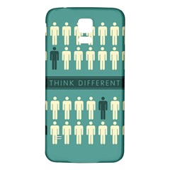 Think Different Samsung Galaxy S5 Back Case (White)
