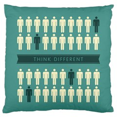 Think Different Large Flano Cushion Case (Two Sides)