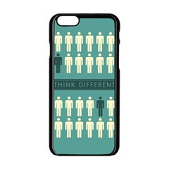 Think Different Apple iPhone 6 Black Enamel Case