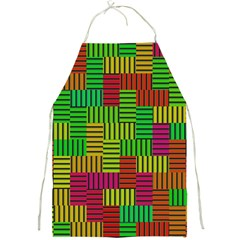 Colorful Stripes And Squares Full Print Apron