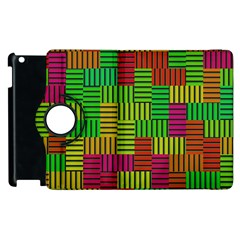 Colorful Stripes And Squares Apple Ipad 3/4 Flip 360 Case