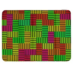 Colorful Stripes And Squares Samsung Galaxy Tab 7  P1000 Flip Case