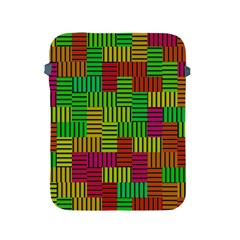 Colorful Stripes And Squares Apple Ipad 2/3/4 Protective Soft Case