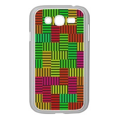 Colorful Stripes And Squares Samsung Galaxy Grand Duos I9082 Case (white)