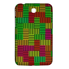 Colorful Stripes And Squares Samsung Galaxy Tab 3 (7 ) P3200 Hardshell Case