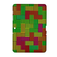 Colorful Stripes And Squares Samsung Galaxy Tab 2 (10 1 ) P5100 Hardshell Case