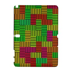 Colorful Stripes And Squares Samsung Galaxy Note 10 1 (p600) Hardshell Case
