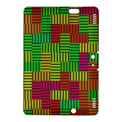 Colorful stripes and squares Kindle Fire HDX 8.9  Hardshell Case
