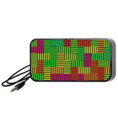 Colorful stripes and squares Portable Speaker