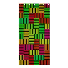 Colorful stripes and squares	Shower Curtain 36  x 72