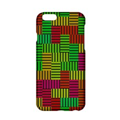 Colorful stripes and squares Apple iPhone 6 Hardshell Case