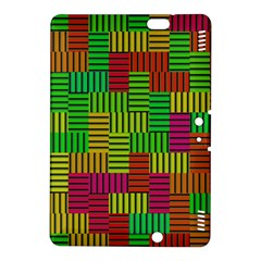 Colorful Stripes And Squares	kindle Fire Hdx 8 9  Hardshell Case