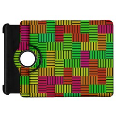 Colorful Stripes And Squareskindle Fire Hd Flip 360 Case